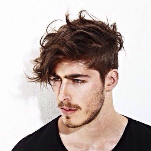 55 Mas Cool De Los Lados Cortos Top Largo Peinados Para Hombres