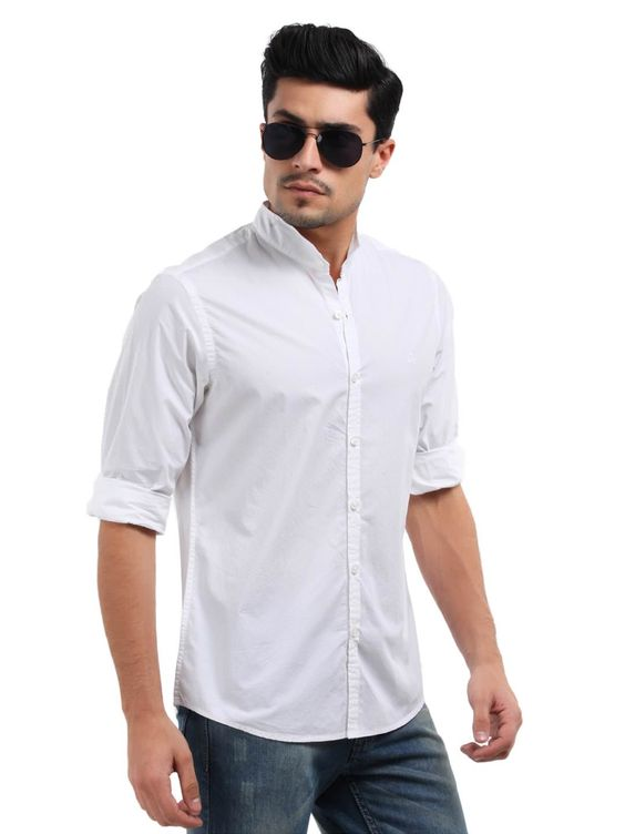 Colour combination that always work for Men! White shirt with Blue ...
