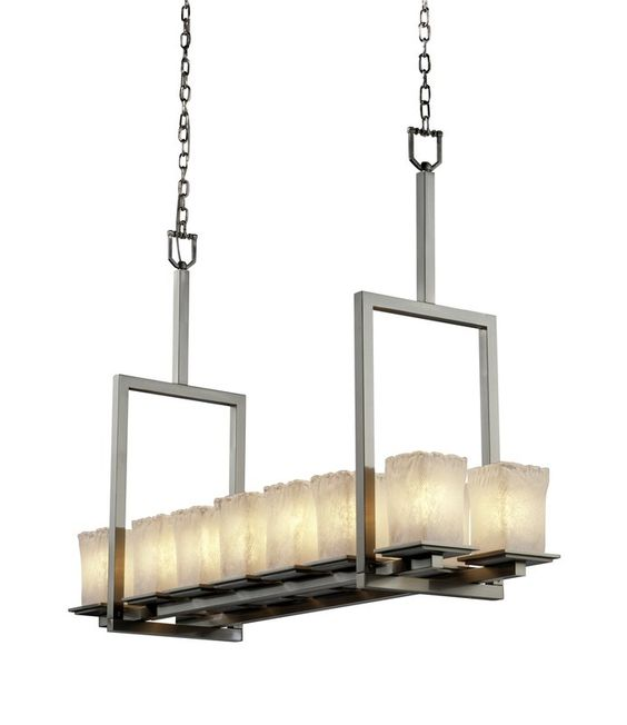 View the Justice Design Group GLA-8664 Montana 14 Light Bridge Chandelier from the Veneto Luce Collection at LightingDirect.com.