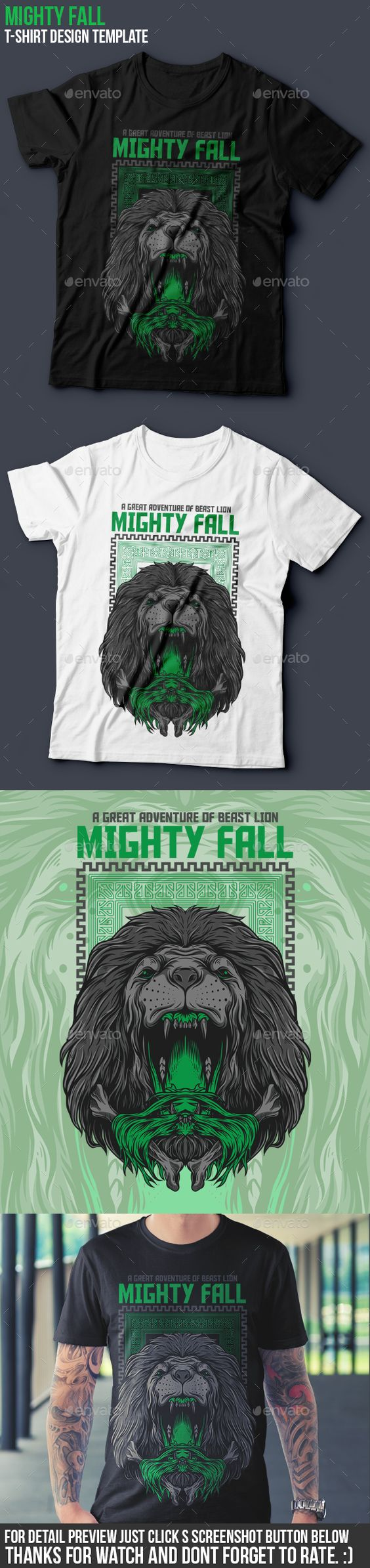 Mighty Fall T-Shirt Design Template - Grunge Designs Template Vector EPS, AI Illustrator. Download here: https://graphicriver.net/item/mighty-fall-tshirt-design/16916659?s_rank=20&ref=yinkira
