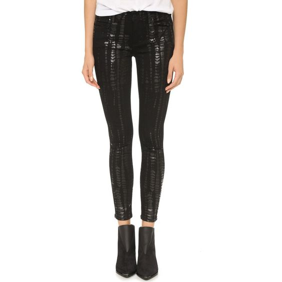 Siwy Ladonna Mid Rise Slim Crop Jeans (¥23,500) ❤ liked on Polyvore featuring jeans, spirit animal, patterned jeans, skinny jeans, cropped jeans, slim skinny jeans and print jeans