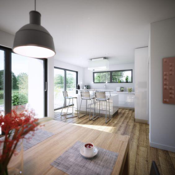 Der klar strukturierte Grundriss ermöglicht großzügiges und - grundriss küche mit kochinsel