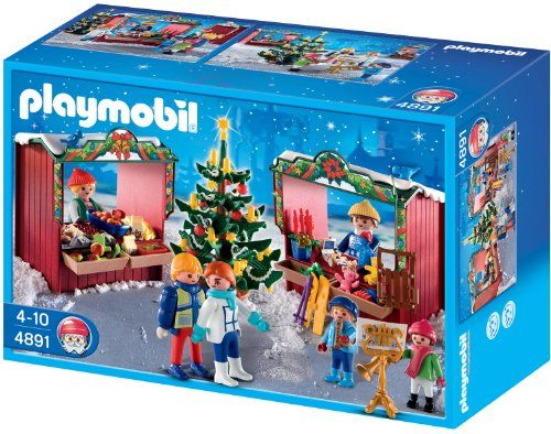 2 Gift Boxes with bow Playmobil 3 x 2,5 x 2 cm Kunsstoff Christmas