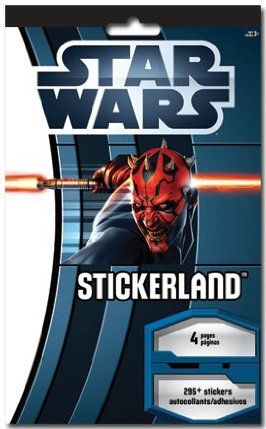 Star Wars Party Supplies Stickers 295+ Stickerland Pad by Trends International. $1.00. The Force is with you! Enjoy these fun Star Wars stickers featuring your favorite characters from the Star Wars Saga. 4 Sheets of 295+ Star Wars stickers per booklet.