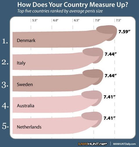 Top 5 Countries Ranked By Average Penis Size  I Like To -3030