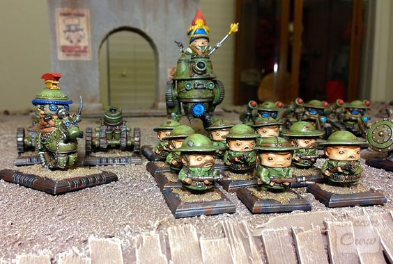 Rivet Wars Allies, painted by Steam Crow.