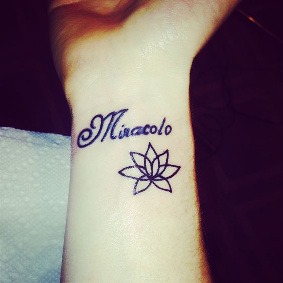"the latest. added the lotus beneath ""Miracolo"""