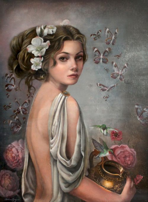 Hebe (Juventas) - a daughter of Zeus and Hera; Heracles received Hebe in marriage upon his ascension to Olympos, a wedding which reconciled the hero with Hebe's mother Hera