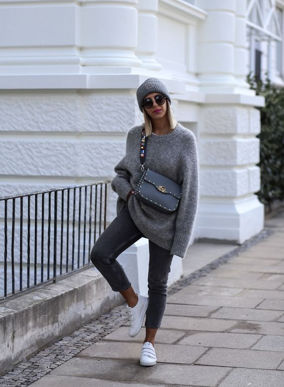 Grey autumn fall look Lovely look, daily look