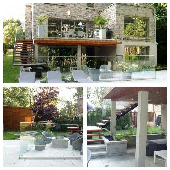 R sidence de prestige outremont rue maplewood escalier acier avec bois et - Cloture balcon terrasse ...