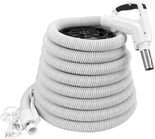 Zvac Universal Central Vacuum Hose 30ft Pigtail High Voltage Electric Hose Crush Proof Tube Ergonomic Swi Electrolux Central Vacuum Central Vacuum System