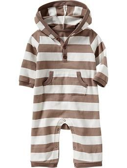Patterned Hooded One-Pieces for Baby   Old Navy