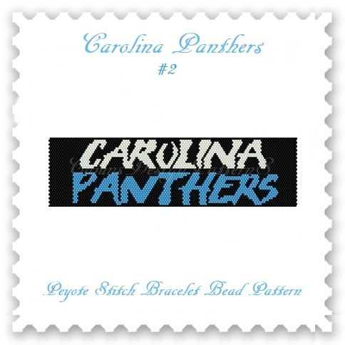 For all the fans of the CAROLINA PANTHERS!  THIS PDF Bead Pattern INCLUDES THE FOLLOWING:  1. A bead legend (bead numbers and colors needed) 2. The pattern design 3. A large, detailed, numbered graph