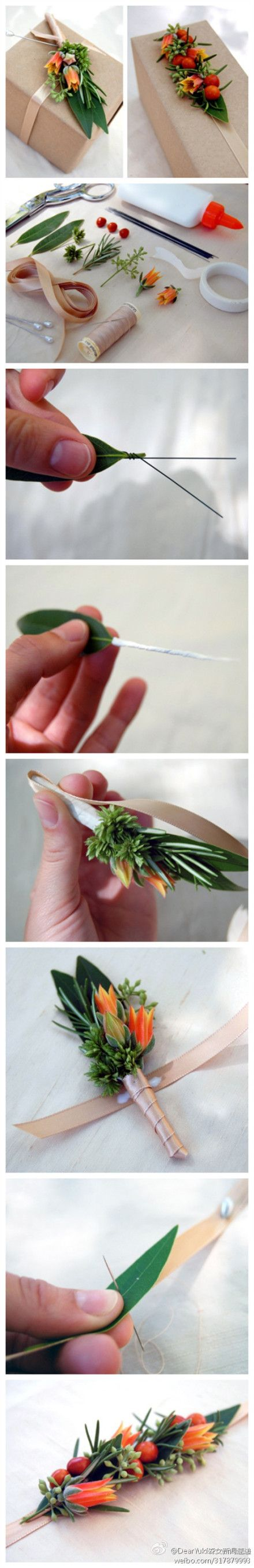 Beautiful and natural live gift box decorations    http://www.duitang.com/people/mblog/29502772/detail/#