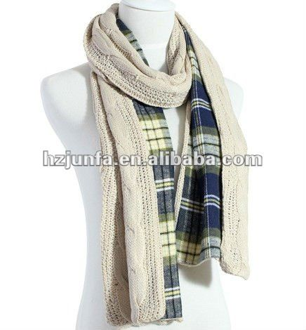 ladies fancy simple cell double sewing pattern scarf