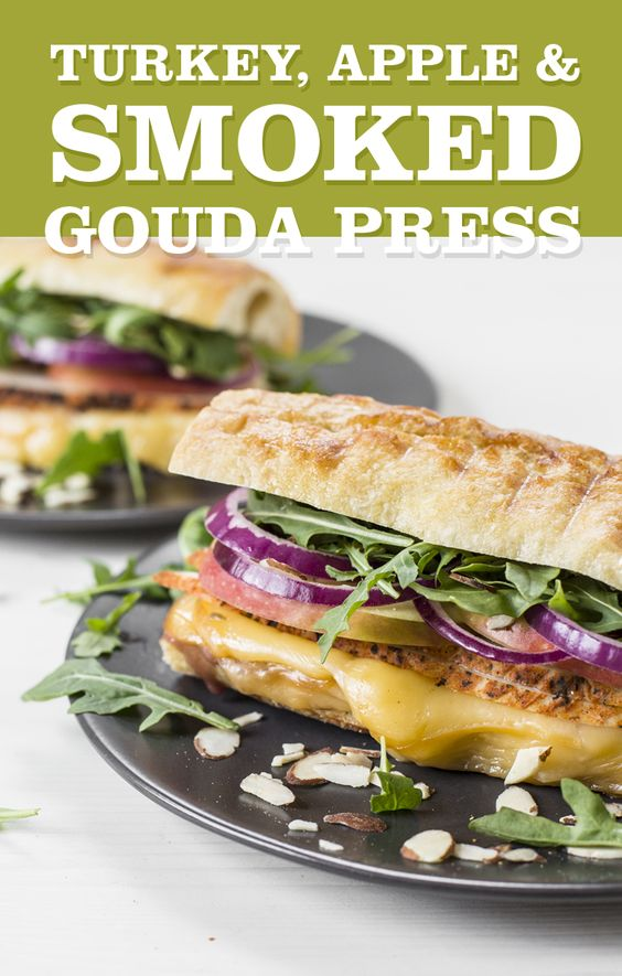 Use Thanksgiving's leftover turkey for this panini that's filled with gooey gouda cheese.
