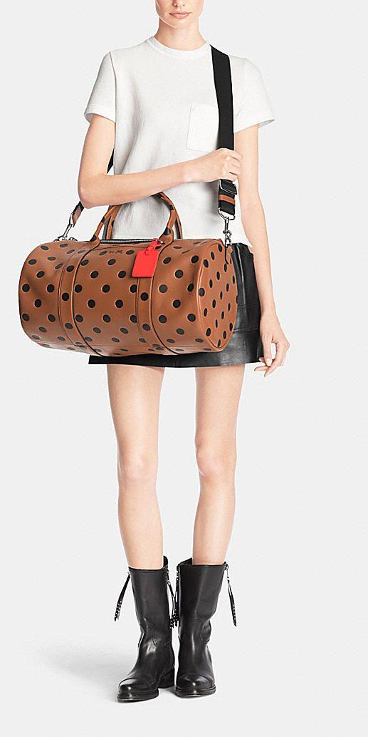 Barrel Bag in Saddle Dot Leather