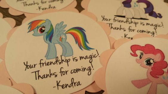 My Little Pony personalized party favor thank you by CardsbyDeanna