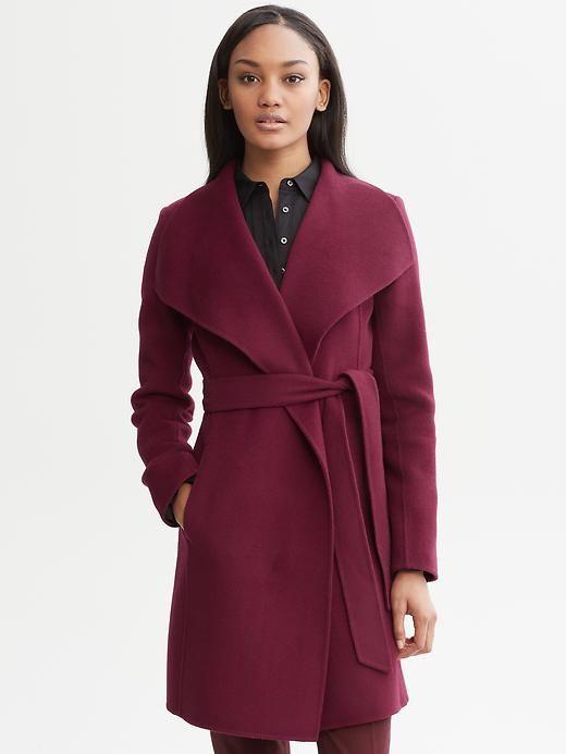 Banana Republic Belted Wool Wrap Coat $225.00 - Buy it here: https