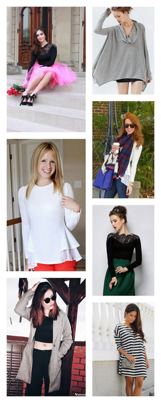 fall outfit ideas 2015 for women,Not ready to give up on your cotton t-shirt? Pair it with a statement pencil skirt and a tailored blazer.view more matches at shein.com