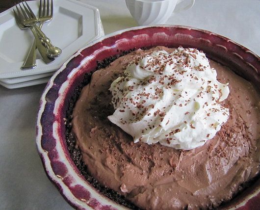 Chocolate Cream Pie with Banana Whip Cream  made by @Shari-Tickled Red