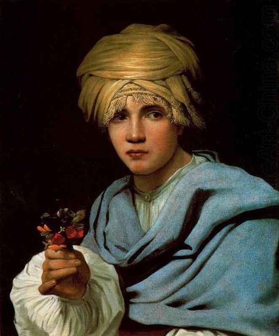 Muchacho con turbante y un ramillete de flores, Michael Sweerts