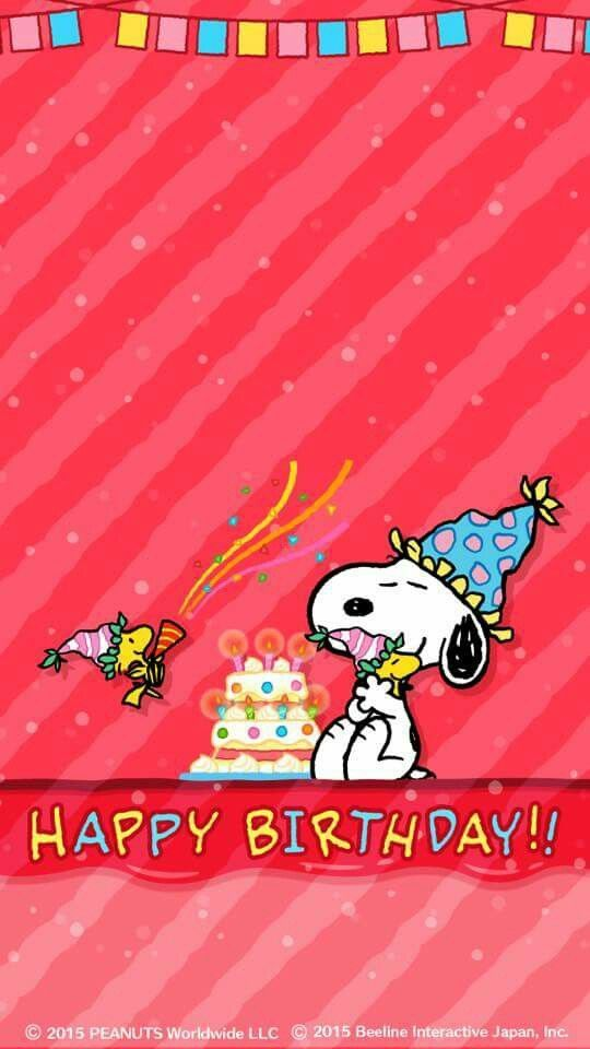 Bild 𝔤𝔢𝔣𝔲𝔫𝔡𝔢𝔫 𝔞𝔲𝔣 𝔇 Snoopy Birthday Happy Birthday Snoopy Images Snoopy Images