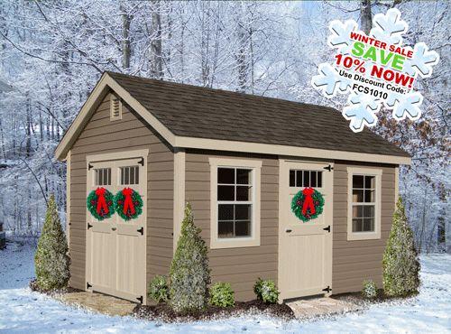 Corner sheds outdoor sheds and shed plans on pinterest for Corner garden shed designs