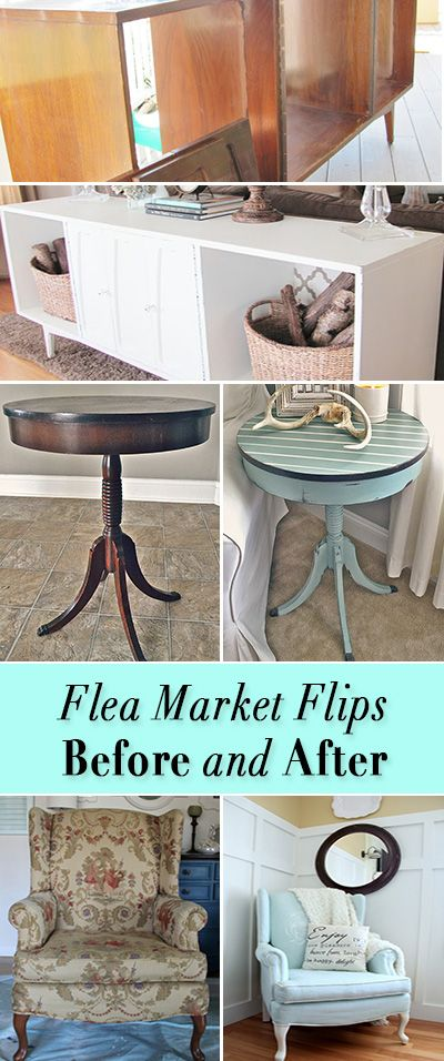 Flea Market Flips : Before and Afters • Great DIY tutorials for taking flea market and yard sale finds and flipping them into amazing pieces!: