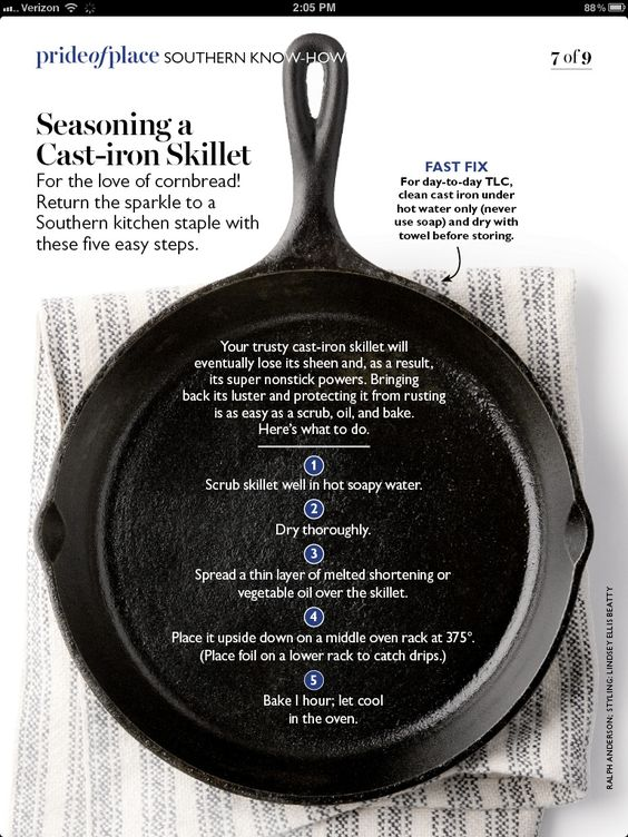 Cast iron...good to know how to give it some TLC. This is one of our favorite kitchen tools
