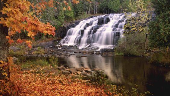 Bond Falls in Autumn, Michigan