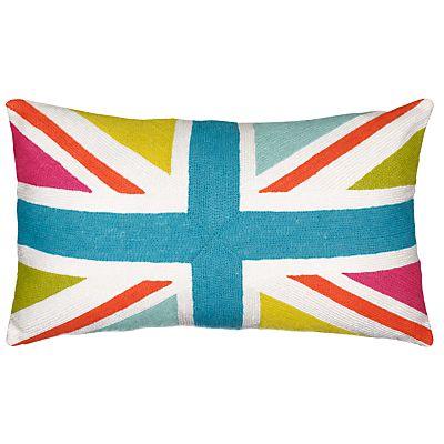 Buy John Lewis Playful Union Jack Cushion, Multi online at JohnLewis.com - John Lewis