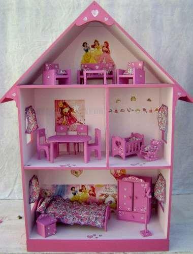Casita Muñecas Barbie 3 Pisos 1 X 80 X 30 Muebles Y Luces 2 300 00 Doll Furniture Furniture Diy And Crafts