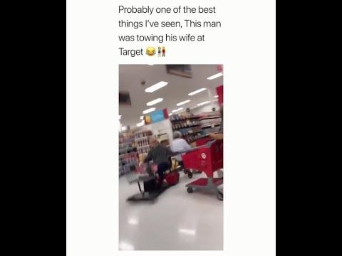 Funny Old Couple Relationship Goals Man Is Towing His Wife In Target Meme Couple Memes Old Couples Funny Memes