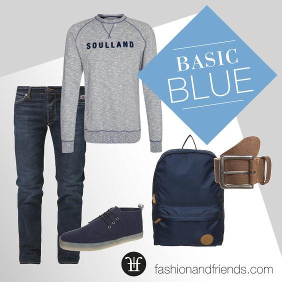 Basic Blue, Rucksack, Backpack, Sneaker