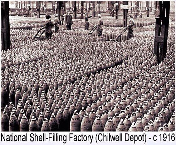 Munitions factory during the Great War