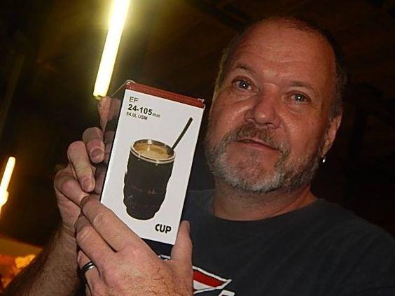 Robert won this Camera lens coffee mug with one bid and saved 96% off retail! #QuiBidsWin