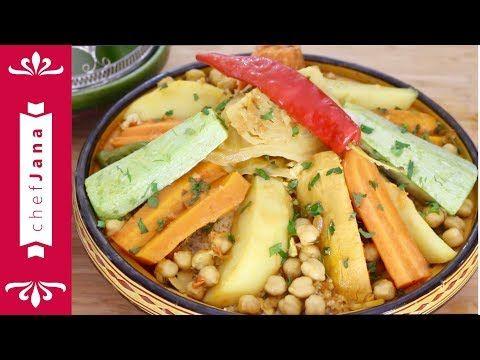 Moroccan Seven Vegetable Couscous كسكس سبع خضار Vegan Youtube Couscous Vegetable Couscous Easy Salad Recipes