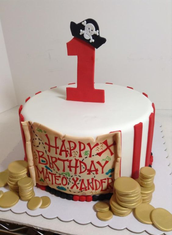 Pirate birthday cake, Sugarnomics Cake Studio Guam