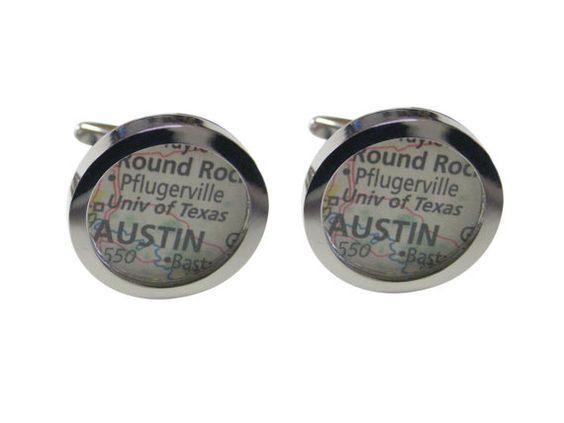 University of Texas Map Cufflinks by AvantGardeDesign on Etsy