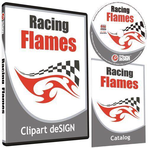 Racing Flames Clipart-Vinyl Cutter Plotter Images-Vector Clip Art ...