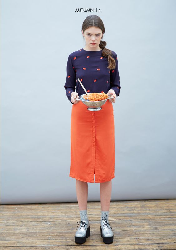 Crop Top in Bean Embroidery http://www.thewhitepepper.com/collections/tops/products/crop-top-in-bean-embroidery Button-front Midi Skirt Burnt Orange http://www.thewhitepepper.com/collections/bottoms/products/button-front-midi-skirt-burnt-orange #TWP