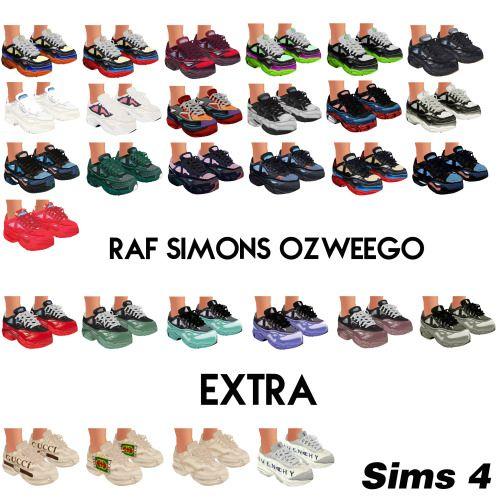 VTSims — S4cc: Raf Simons Ozweego + Extra | Sims 4 game