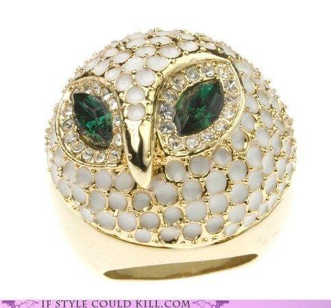 Fancy owl!: Hoot Owls, Owl Jewelry, Owl Cocktail, Heart Owls, White Owl, Owl Rings, Owls 3