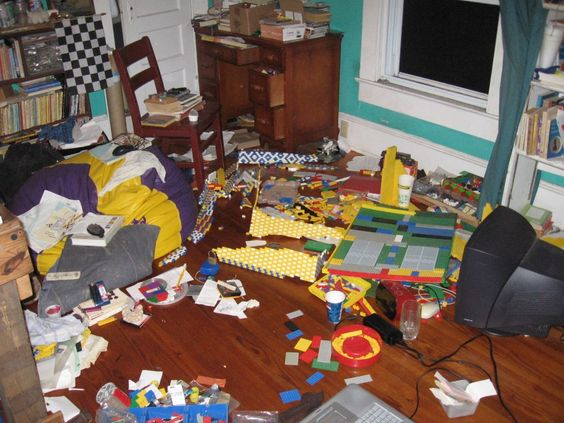 how to clean a really messy room