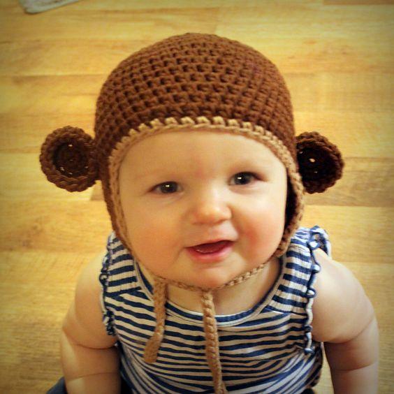 Ravelry: Monkey Hat (sizes newborn to adult) pattern by Tara Murray (CROCHET) (FREE PATTERN)