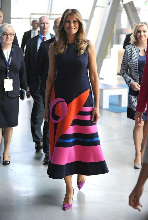 All Melania Trump S Amazing Designer Dresses From The G20 All Melania Trump S Amazing Designer Dre Trump Fashion Designer Dresses Casual Melania Trump Dress