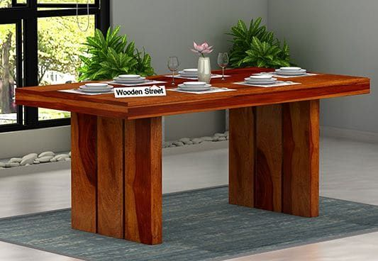 Wertex 6 Seater Dining Table 6 Seater Dining Table Dining Table