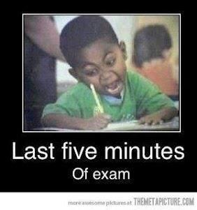 Ultimos 5 minutos de examen