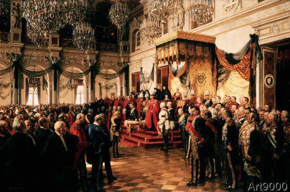 Anton Alexander von Werner - Opening of the German Reichstag in the White Hall of the Berlin Schloss, by Kaiser Wilhelm II.